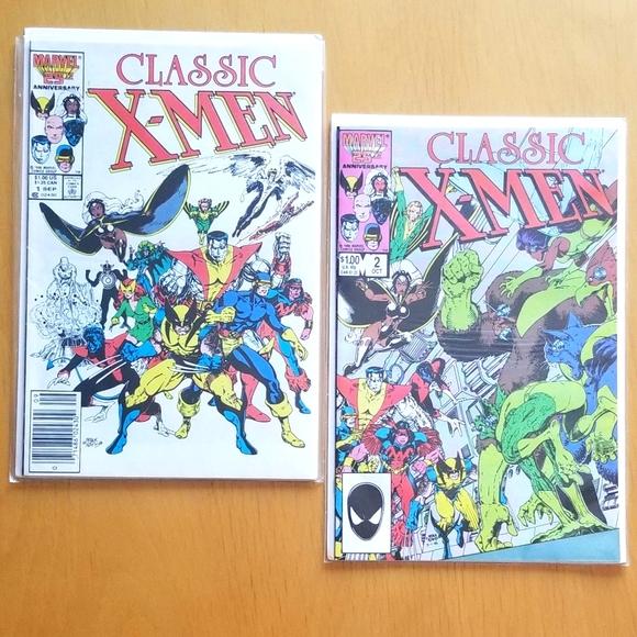 1980s Marvel Comics Classic X Men No. 1 & 2 !!!